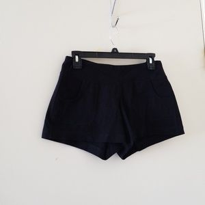 "Old Navy black ""take a long walk"" active shorts"